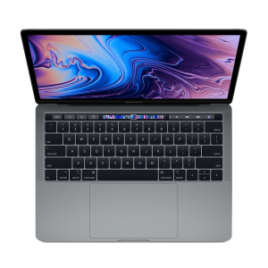 MacBook Pro 13-tommer med Touch Bar 2,8 GHz i7 512GB med 16GB RAM i stellargrå