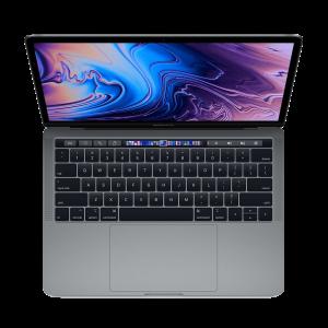MacBook Pro 13-tommer med Touch Bar 2,3 GHz 256 GB med 16 GB RAM i stellargrå - Amerikansk tastatur (2018)