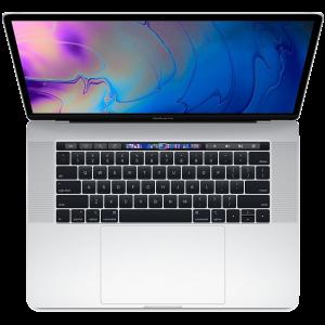 MacBook Pro 15-tommer med Touch Bar 2,6 GHz 1 TB  med 32 GB RAM i sølv (2018)