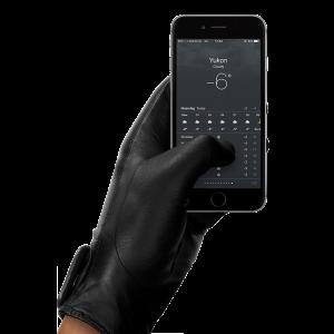 Mujjo Touchscreen hansker i skinn - medium (8,5)