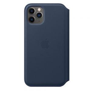 Apple Folio-skinndeksel til iPhone 11 Pro – Dyphavsblå