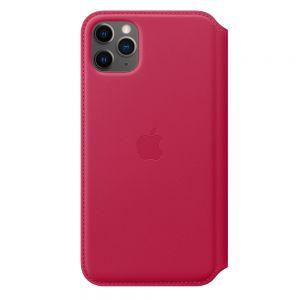 Apple Folio-skinndeksel til iPhone 11 Pro Max – Ripsrød