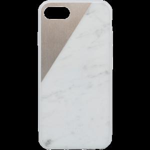 Native Union iPhone 8/7 Clic Marble-deksel - hvit marmor og gull