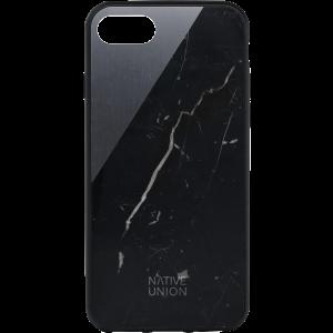 Native Union iPhone 8/7 Clic Marble-deksel - svart marmor og stellargrå