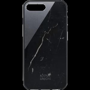 Native Union iPhone 8 Plus/7 Plus Clic Marble-deksel - svart marmor og stellargrå