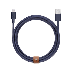 Native Union Lightning Belt Cable 3 m - marineblå