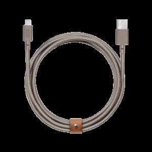 Native Union Lightning Belt Cable 3 m - muldvarpsgrå