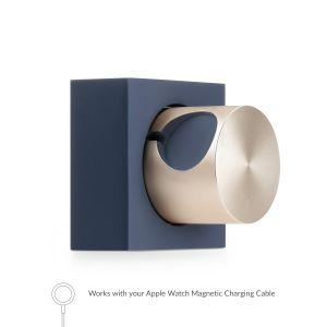 Native Union Apple Watch dockingstasjon i blå og gull