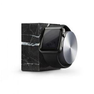 Native Union Apple Watch dockingstasjon i svart marmor og sølv