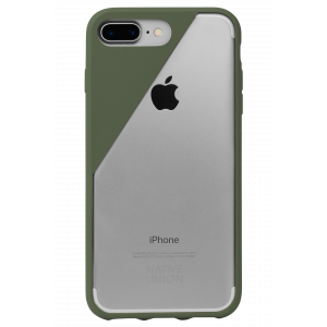 Native Union iPhone 8 Plus/7 Plus Clic Crystal-deksel - oliven