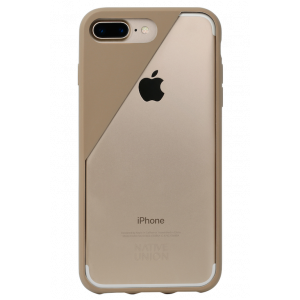 Native Union iPhone 8 Plus/7 Plus Clic Crystal-deksel - muldvarpsgrå