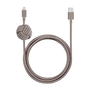 Native Union Lightning Night Cable 3 m - muldvarpsgrå