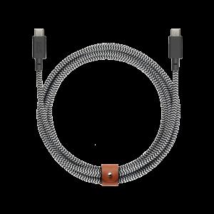 Native Union 2,4m Belt Cable USB-C til USB-C - Zebra
