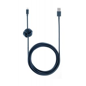 Native Union Lightning Night Cable 3 m - marineblå