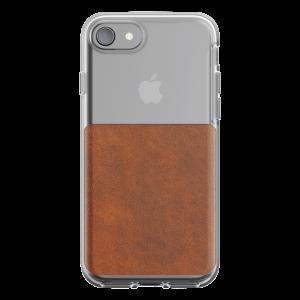 Nomad Clear deksel til iPhone 8/7 - klar/brun