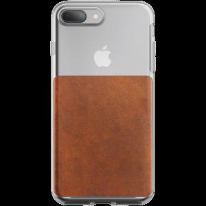 Nomad Clear deksel til iPhone 8 plus/7 plus - klar/brun