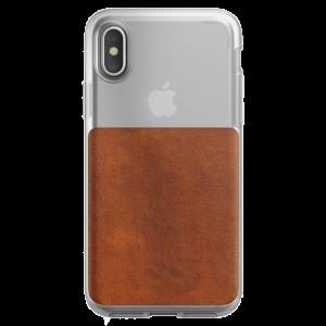 Nomad Clear deksel til iPhone XS - klar/brun