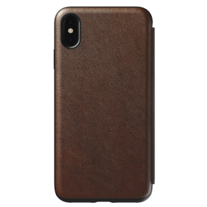 Nomad Rugged folio til iPhone XS Max - brun