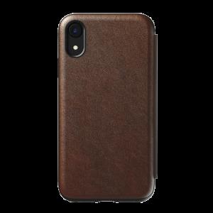 Nomad Rugged Tri-Folio til iPhone XR - brun