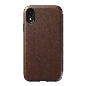 Nomad Rugged Tri-Folio til iPhone XR - brun