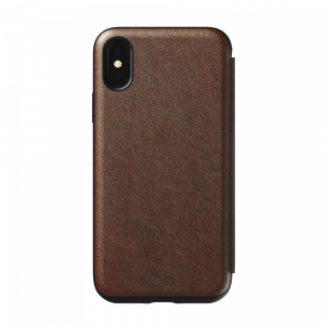 Nomad Rugged Tri-Folio til iPhone XS - brun