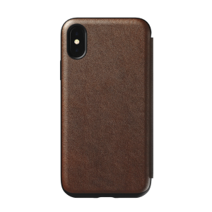 Nomad Rugged Tri-Folio til iPhone XS - brun
