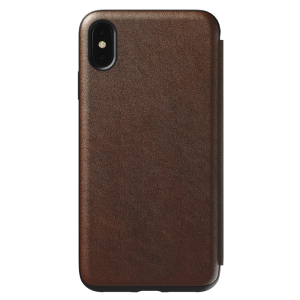 Nomad Rugged Tri-Folio til iPhone XS Max - brun