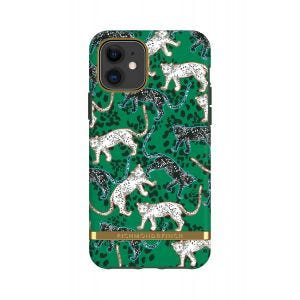 Richmond & Finch etui til iPhone 11 - Grønn leopard