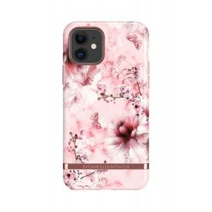 Richmond & Finch etui til iPhone 11 - Rosa Marmor/Blomster