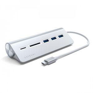 Satechi USB-C hub - sølv