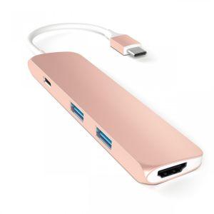 Satechi USB-C Multiport-adapter - rosegull