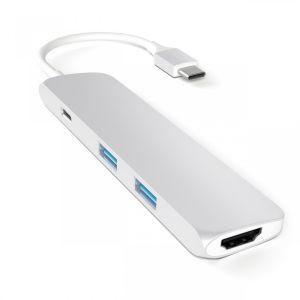 Satechi USB-C Multiport-adapter - sølv