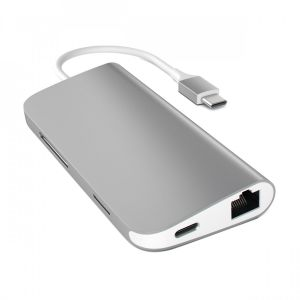 Satechi USB-C Multiport-adapter med Ethernet og kortleser - stellargrå