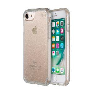 Speck iPhone 8/7-deksel: Presidio - Clear+Gold Glitter
