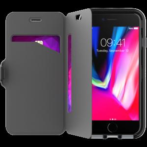 Tech21 Evo Wallet lommeboketui til iPhone 8/7 - svart