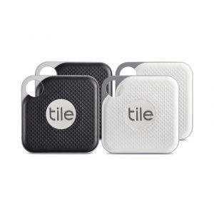 Tile Pro sporingsbrikke 4-pakk - svart og hvit