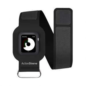 Twelve South ActionSleeve armbånd til Apple Watch 42 mm (slim) - svart