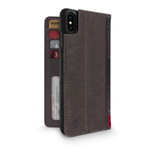 Twelve South BookBook lommeboketui til iPhone XS Max - brun