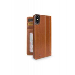 Twelve South Journal lommeboketui til iPhone XS - konjakk