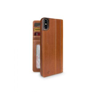 Twelve South Journal lommeboketui til iPhone XS Max - brun