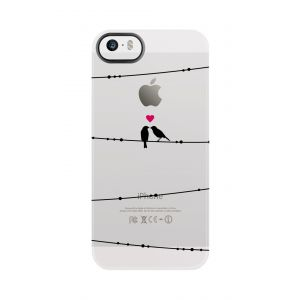 Uncommon iPhone SE-deksel Clear Deflector Love on a Wire
