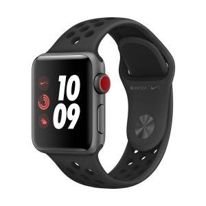 Apple Watch Series 3 Cellular 38 mm Nike+ - stellargrå med antrasitt/svart Nike Sport Band