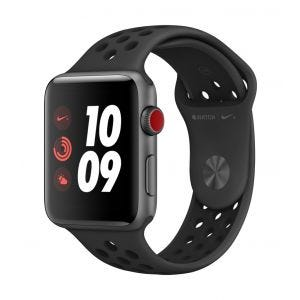 Apple Watch Series 3 Cellular 42 mm Nike+ - stellargrå med antrasitt/svart Nike Sport Band