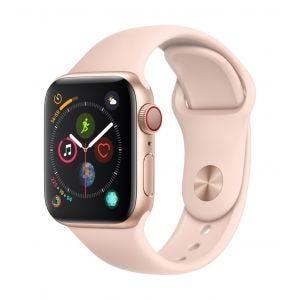 Apple Watch Series 4 Cellular 40 mm - gull med sandrosa Sport Band