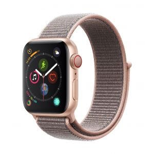Apple Watch Series 4 Cellular 40 mm - gull med sandrosa Sport Loop