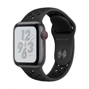 Apple Watch Series 4 Nike+ Cellular 40 mm - stellargrå med antrasitt/svart Nike Sport Band