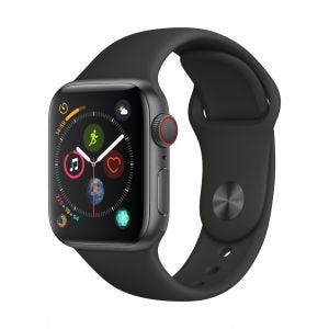 Apple Watch Series 4 Cellular 40 mm - stellargrå med svart Sport Band