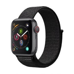 Apple Watch Series 4 Cellular 40 mm - stellargrå med svart Sport Loop
