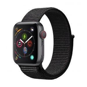 Apple Watch Series 4 Cellular 40 mm - stellargrå med svart Sport Loop