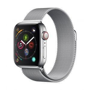 Apple Watch Series 4 Cellular 40 mm - rustfritt stål med Milanese Loop